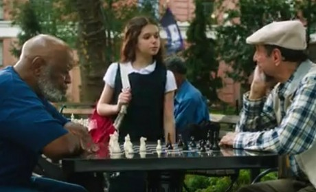 Movie, 2014, with a lot of chess